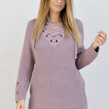 St. Cloud Dusty Rose Sweater