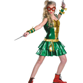 Teenage Mutant Ninja Turtles Deluxe Tween Costume with 4 Mask – Spirit Halloween