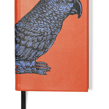 Smythson - Printed textured-leather notebook