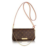 Authentic Louis Vuitton Favorite PM Monogram Canvas Cluth Bag Handbag Article: M40717 Made in France I