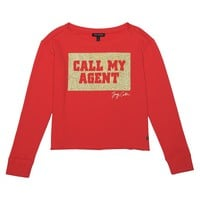 CALL MY AGENT FRENCH TERRY PULLOVER