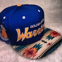 Golden State Warriors Custom Aztec Snapback Hat