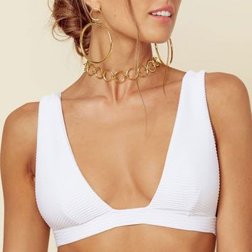 Blue Life Roped Up Tri Top in White Jacquard 390-9356-WHT