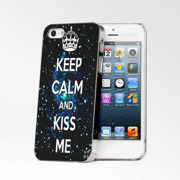 Keep Calm And Kiss Me iPhone 4s iphone 5 iphone 5s iphone 6 case, Samsung s3 samsung s4 samsung s5 note 3 note 4 case, iPod 4 5 Case