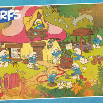 The Smurfs Cartoon Poster 22x34