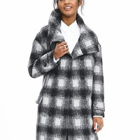 Banana Republic Womens Plaid Double Breasted Coat