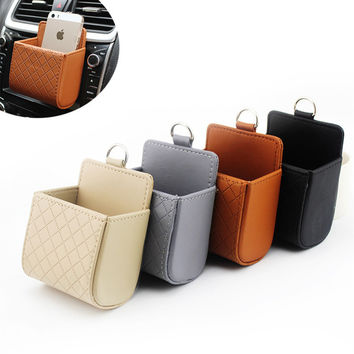 Good Quality Leather Outlet Stowing Tidying 11*9 Multi-Functional Car Storage Organizer Universal Box Auto Interior Accessories