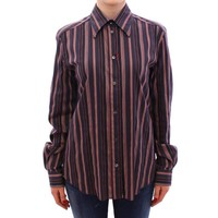 Dolce & Gabbana Multicolor Striped Floral Cotton Shirt