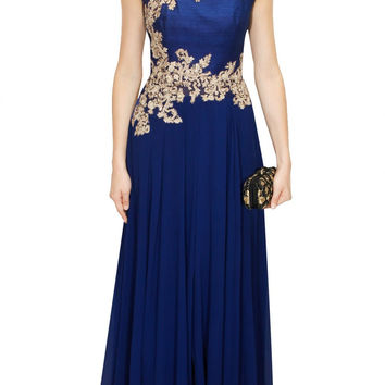 Aneesh Aggarwal blue colour anarkali