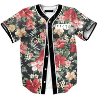 Onyx Hearts Floral Facts Baseball Jersey