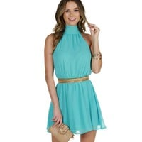Sale-lt. Blue My Oh My Pleated Dress
