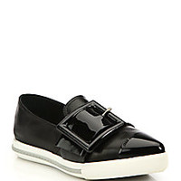 Miu Miu - Patent Leather Skate Sneakers  - Saks Fifth Avenue Mobile