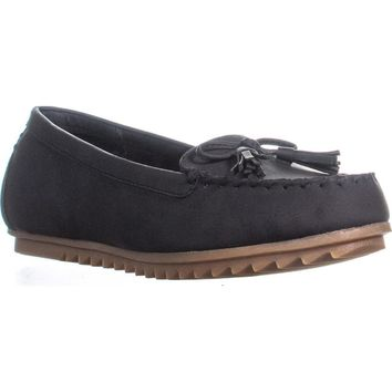 Cliffs by White Mountain Samanda Tassel Moccasins, Black, 8 US