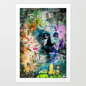 Artistic OI - Albert Einstein II Art Print by tmarchev