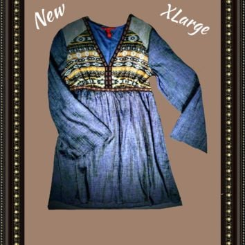 Chelsea and Violet dress beautiful blue  size extra large