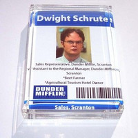 Acrylic Dwight Schrute Executive Desk Top Paperweight