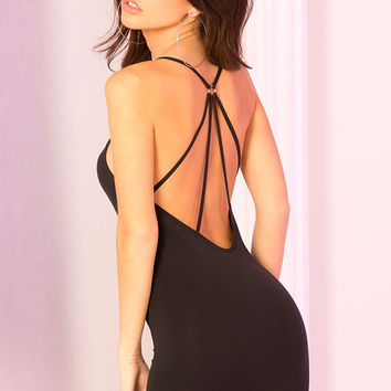 Seamless Spider Back Mini Dress