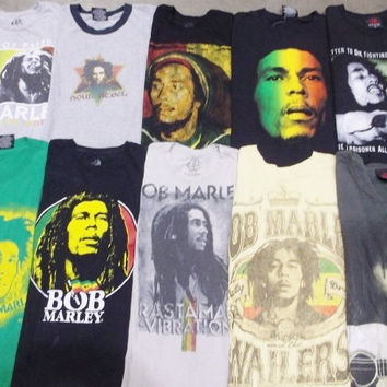 Mystery Vintage Bob Marley Concert T-Shirt's Shirts:Vintage:All Sizes & Styles