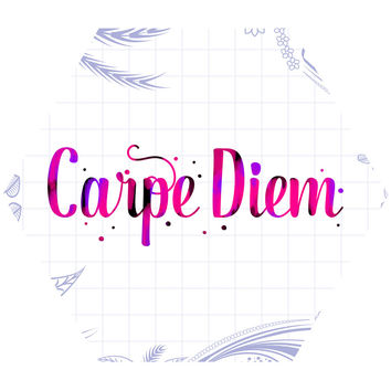 Carpe Diem II Hex Wall Decal