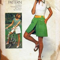 70s Vintage Simplicity 6903 Misses Pantskirt in Two Lengths Pattern | TwilightsFancy - Craft Supplies on ArtFire