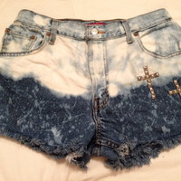 High wasted vintage cross shorts by VictoryClothing on Etsy