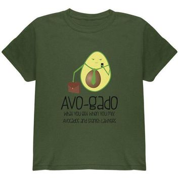 PEAPGQ9 Avocado Abogado Lawyer Funny Spanish Pun Youth T Shirt