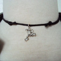 Awesome Frog Choker ~ Little Frog Necklace ~ Antique Silver Frog Necklace ~ Miniature Frog ~ Animal Jewelry ~ Frog Jewelry ~ Amphibian
