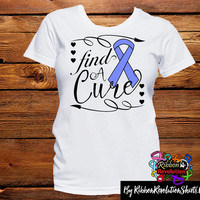 Periwinkle Ribbon Find A Cure Shirts (Esophageal Cancer, Pulmonary Hypertension, Stomach Cancer and More)