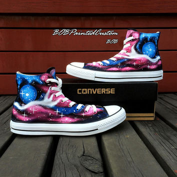 Customizable Galaxy Converse Shoes for Women Men Hand Painted Fashion  Canvas Shoes The Warmest Presents for aa347c93d