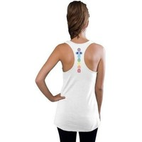 Yoga Clothing for You Ladies Colored Chakras Racerback Yoga Tank Top
