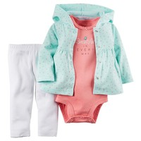 Carter's Floral Hooded Cardigan Set - Baby Girl, Size: