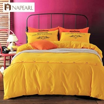 Solid color sheet twill cover bed duvet cover queen king pillow covers 100% cotton bedding sets home textile girls bedding