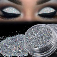 Sparkly Makeup Glitter Loose Powder EyeShadow Silver Eye Shadow Pigment Chunky Mermaid Holographic Glitter Makeup Cosmetic