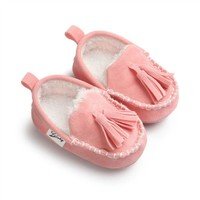 Winter Baby Pu Leather Infant Suede Boots Moccasins Newborn Princess Baby Shoes