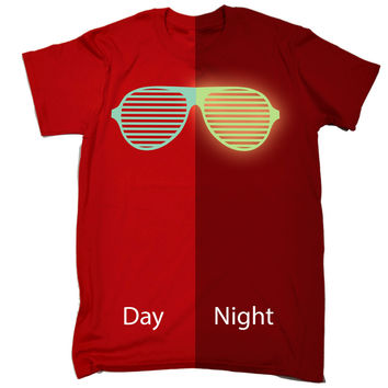 123t USA Men's Glow In The Dark ... Rave Sunglasses Funny T-Shirt