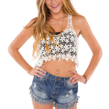 Candice Lace Crop Top