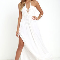 Maximum Magnificence Ivory Maxi Dress