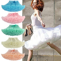 2016 Fashion Skirt Fluffy Women Pettiskirt Tutu Teenage Girl Adult Women Tutu Petticoat Dance Wear Party Fluffy Skirt 15 Colors