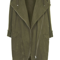 Waterfall Front Parka Jacket - Topshop