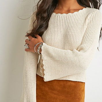 Bell-Sleeved Slouchy Sweater