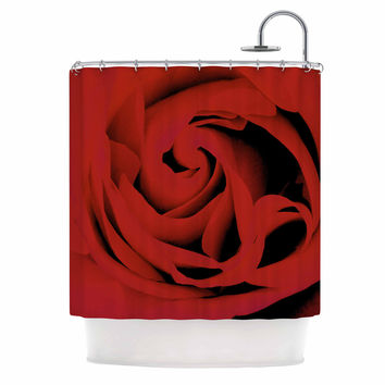"Suzanne Carter ""Red"" Floral Photography Shower Curtain"