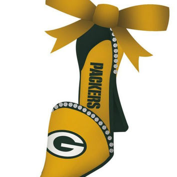 Green Bay Packers High Heeled Shoe Ornament