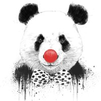 Clown panda, an art print by Balazs Solti