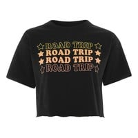 'Road Trip' Slogan Cropped T-Shirt | Topshop