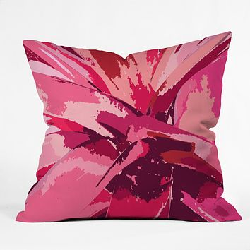 Rosie Brown Blushing Bromeliad Outdoor Throw Pillow