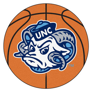 UNC - Chapel Hill NCAA Basketball Round Floor Mat (29) Ram Logo
