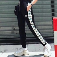 ADIDAS Woman Men Fashion Drawstring Sport Pants Trousers