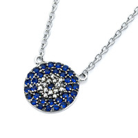 .925 Sterling Silver Circle Necklace