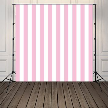 HUAYI Pink and White Stripe   Backgrounds Photography backdrops  Art Fabric Newborn Backdrop  Studio/Photography Props  D-8850