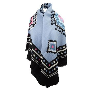 Navajo Aztec Bohemian Warm Winter Ethnic Tribal Pattern Large Scarf Wrap